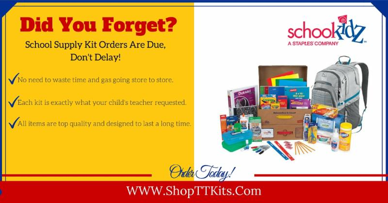 School Supply Kit Orders Extended