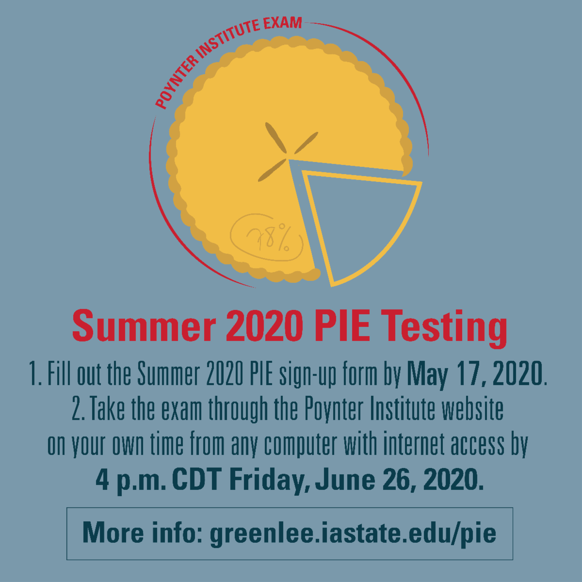 PIE graphic with June 26 due date