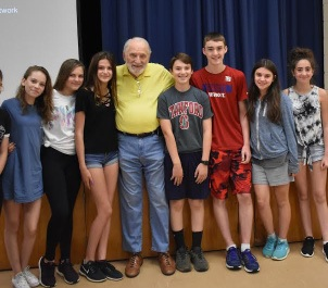 Paul Galan with students