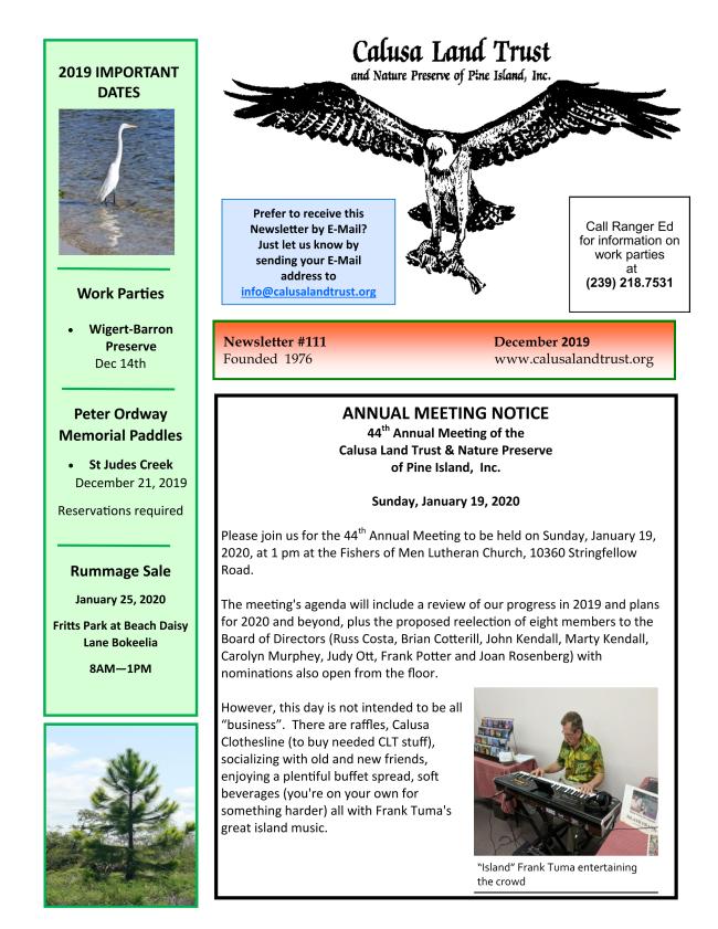 DEC 2019 CLT Newsletter