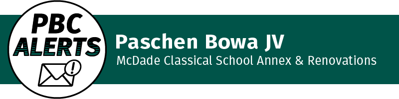 Paschen Bowa JV - McDade Classical School Annex & Renovations