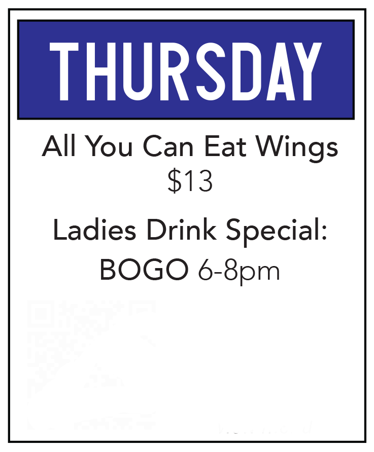 Duck Creek Bar Grill Food Special Thrsday