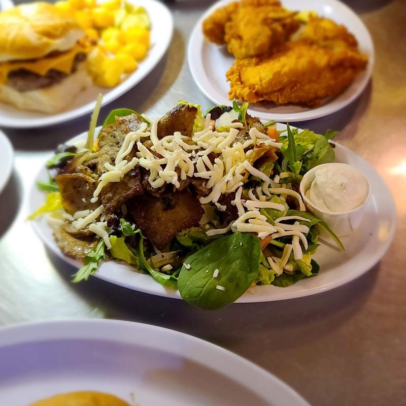 Du Duck Inn Grill & Bar Restaurant at Duck Creek Campground  Saturday Special Gyro Salad