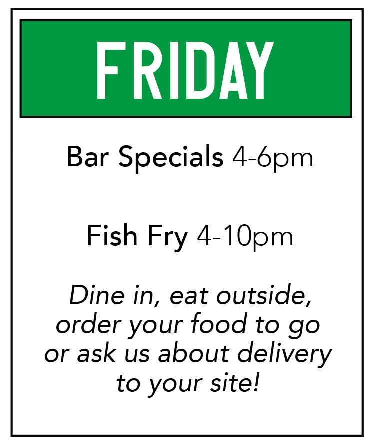 Duck Creek Bar Grill Food Special Friday