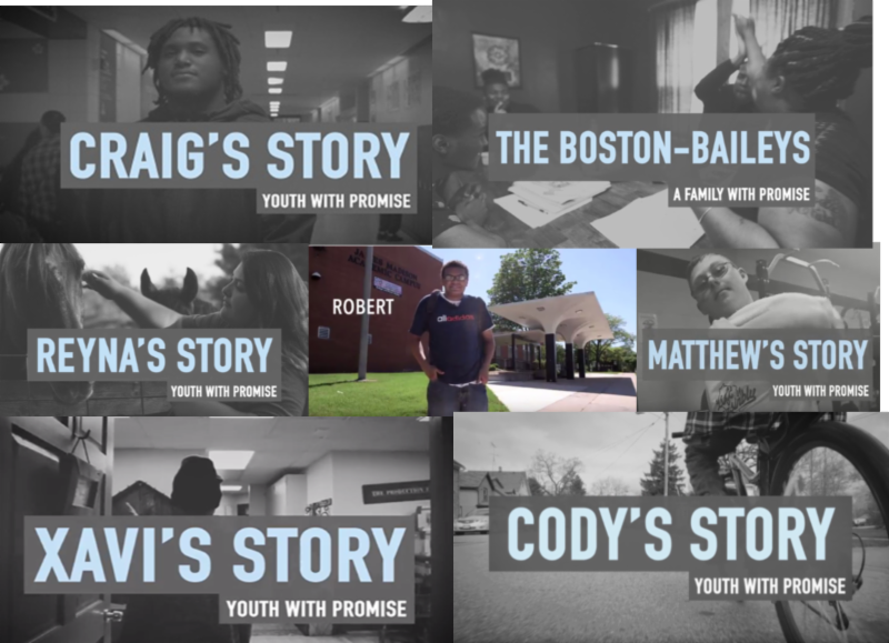 collage of all promise videos