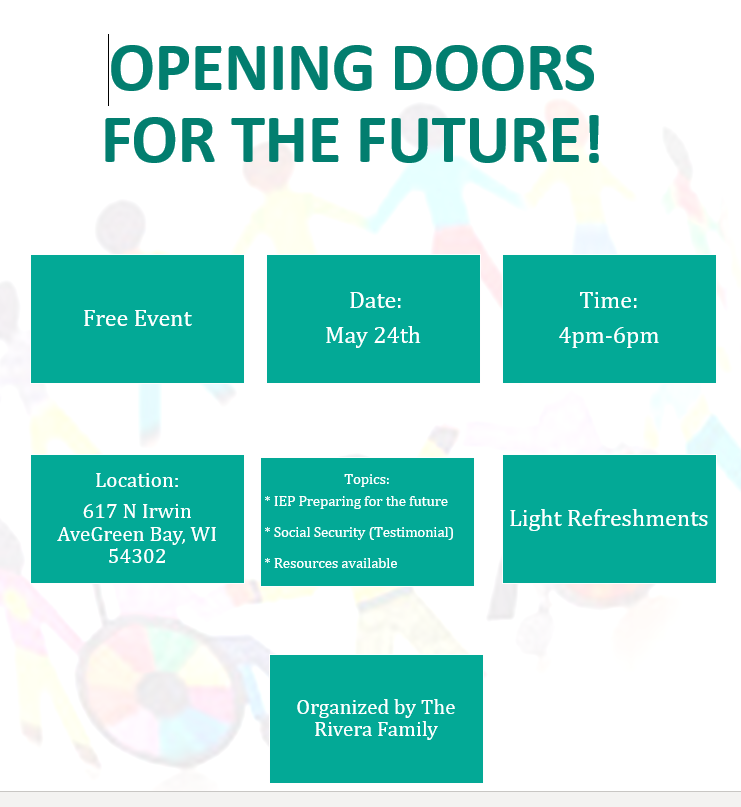 opening doors for the future, May 24th, 4-6pm