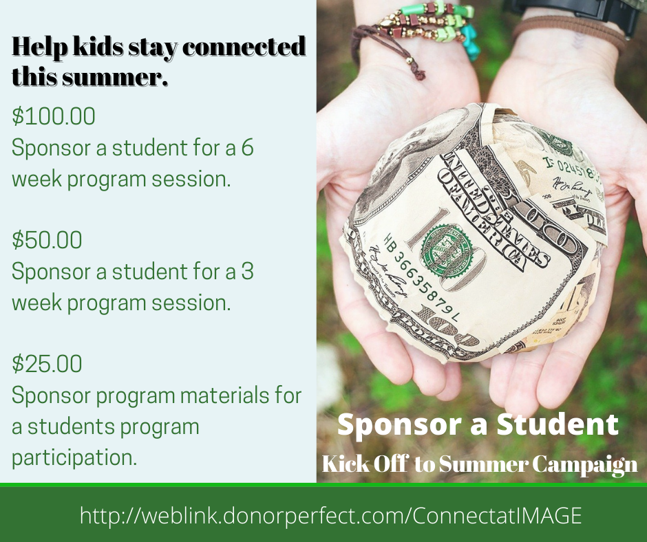Visit www.imagemd.org and click on teen blog to learn more about our sponsor a student campaign.