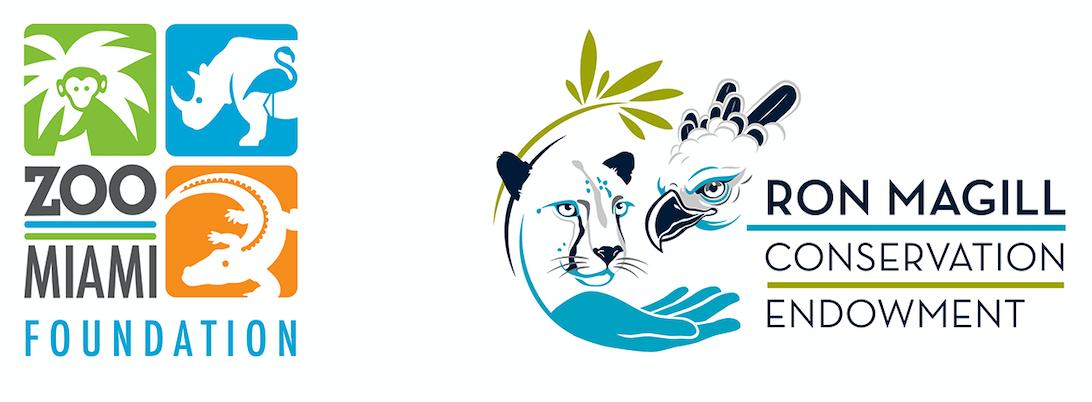 Zoo Miami Foundation and Ron Magill Conservation Edowment Logos
