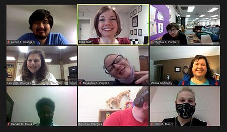 Screen shot of an Empower Me workshop on Zoom with 9 participants