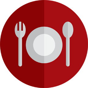 A plate with silverware