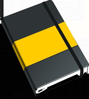 A journal or sketchbook