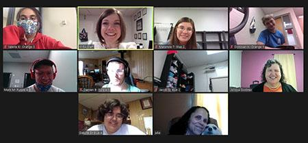 Screen shot of an Empower Me workshop on Zoom with 10 participants
