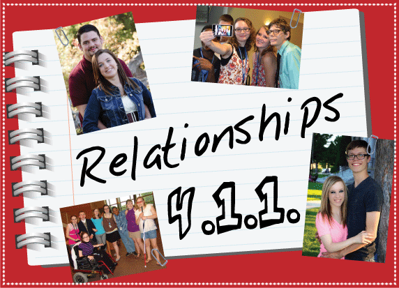 Relationships 411 logo with pictures of various couples