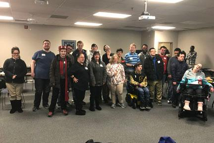Participants of the Overland Park Empower Me workshop take a group photo
