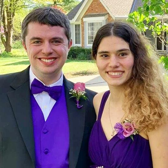Kyle Christine with his date