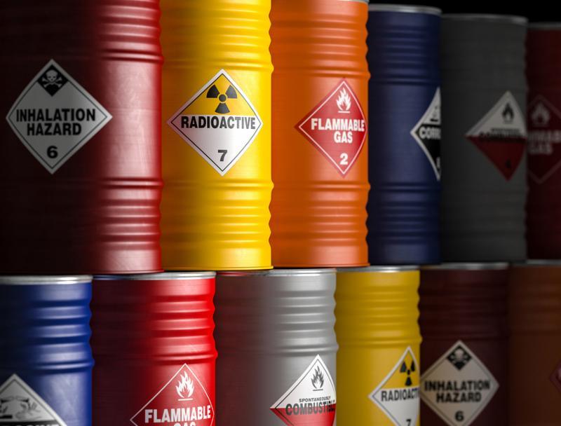 radioactive yellow barrel 3d rendering image