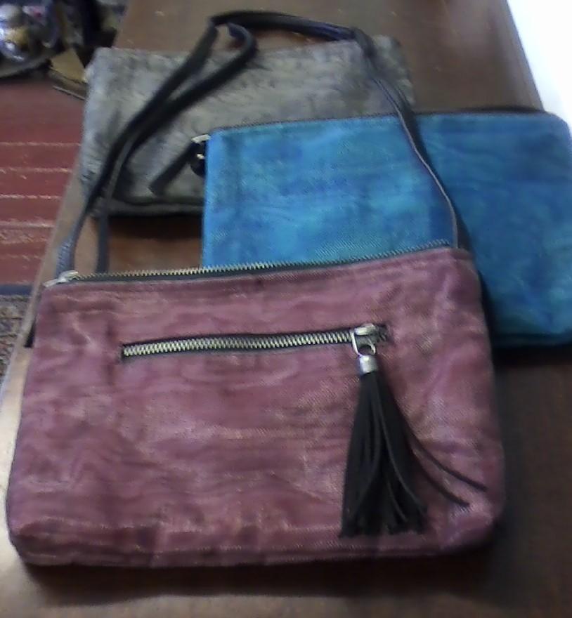 Repurposed Fishing Net Handbags.