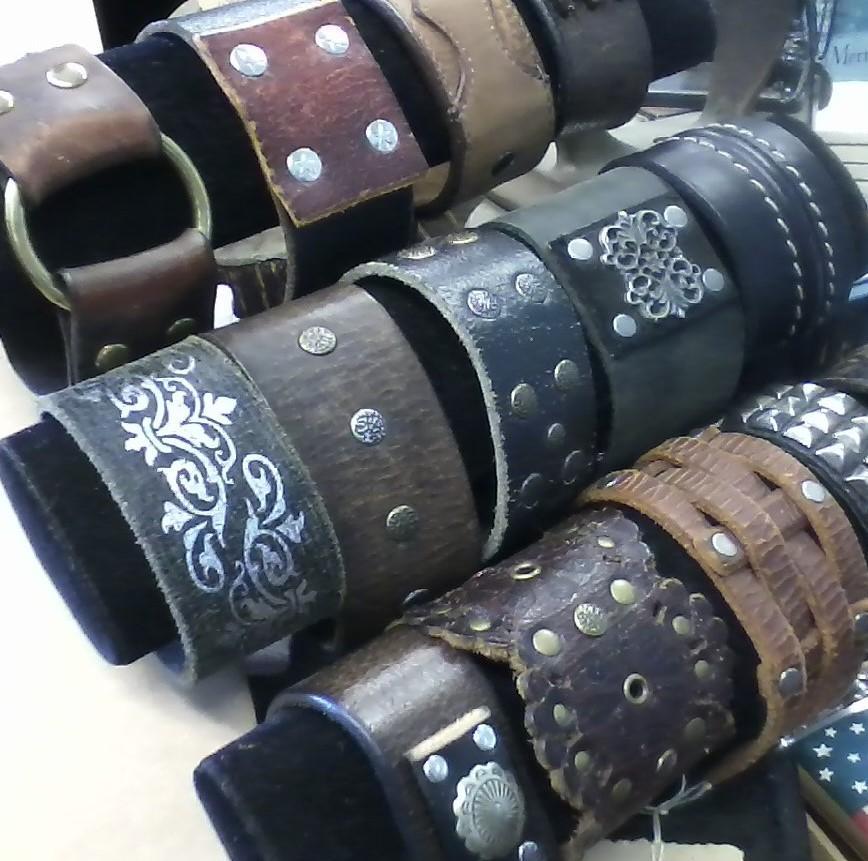 Recycled Leather Bracelets