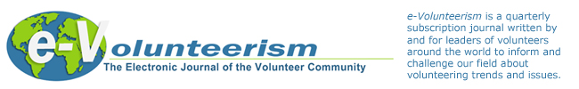 e-Volunteerism The Electronic Journal of the Volunteer Community