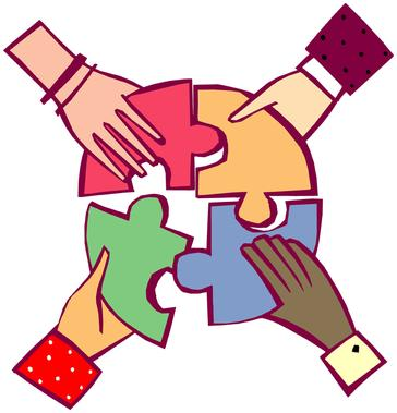 illustration of hands putting together a puzzle
