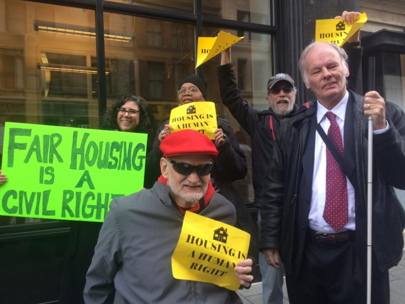 DRM and other advocates at the 2019 Source of Income Rally in Baltimore Maryland