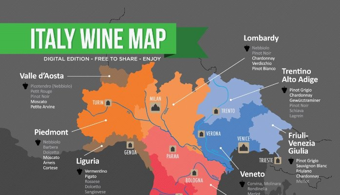 Barolo Wine Region Italy Map.Guess What Else Goes With Fondue Regional Spotlight Northern Italy