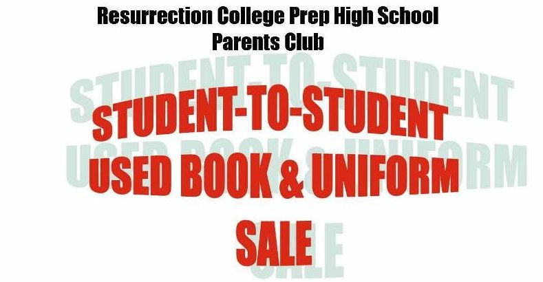 Student to Student Used Book and Uniform Sale
