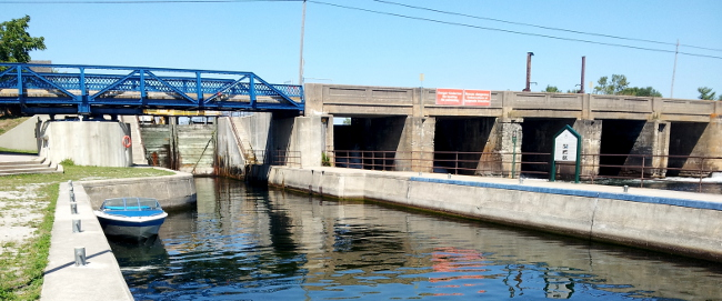 TSW lock and dam at Port Severn