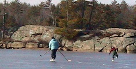 FOCA banner - winter lake hockey