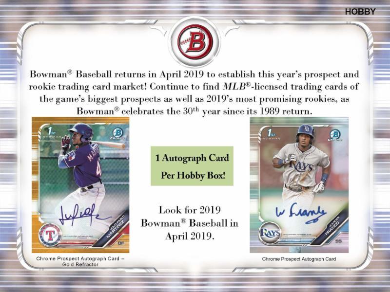 19 Bowman Baseball Jumbo 2 Case Break Tonight Re Random