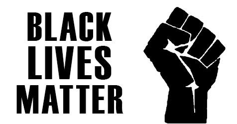 _Black Lives Matter_ with pride fist