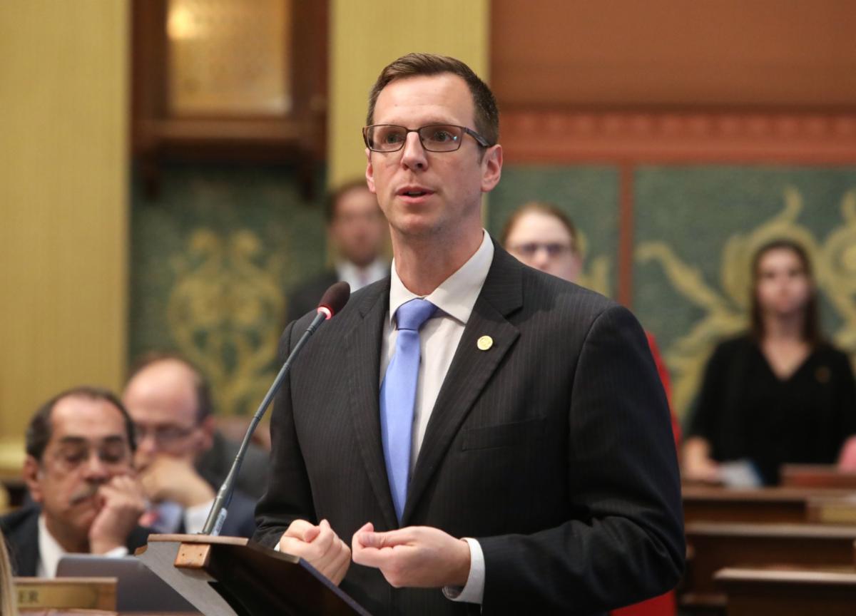 Michigan Rep. John Hoadley on the House floor