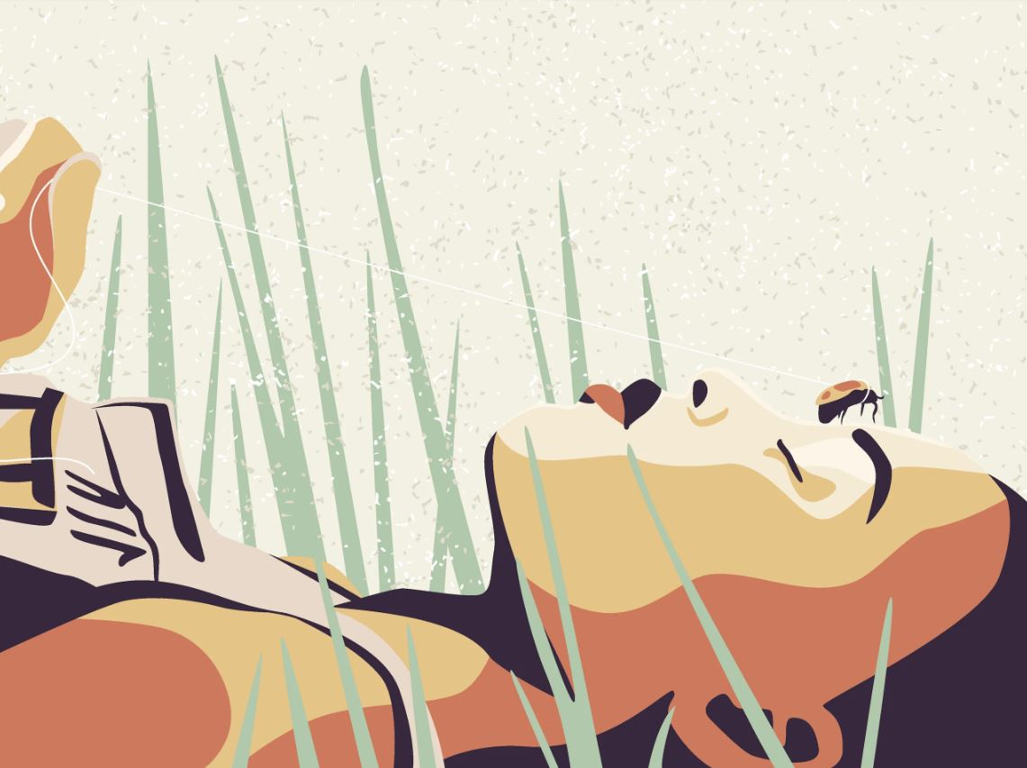 illustration_ black woman laying in grass