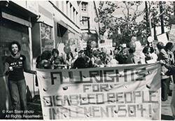 Joyce Jackson protesting in 1979