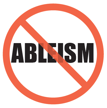word _ableism_ with line through it