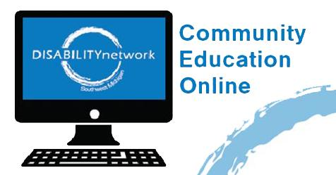 Community Education Online - computer screeen with logo