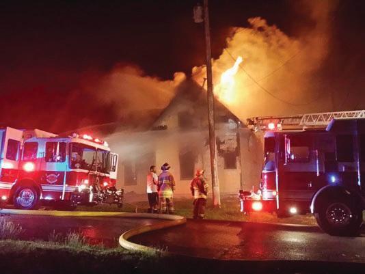 firemen at house fire