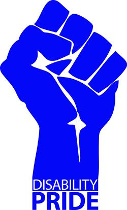 raised fist with text _Disability Pride_