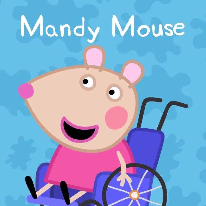 Manda Mouse _ a cartoon mouse in a wheelchair