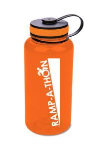 RAMP-A-THON water bottle