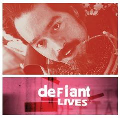 Ed Roberts and movie cover _Defiant Lives_