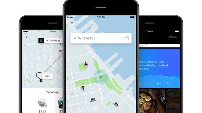 smart fphones using ride apps