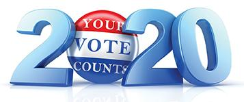 text graphic: 2020 - Your vote counts