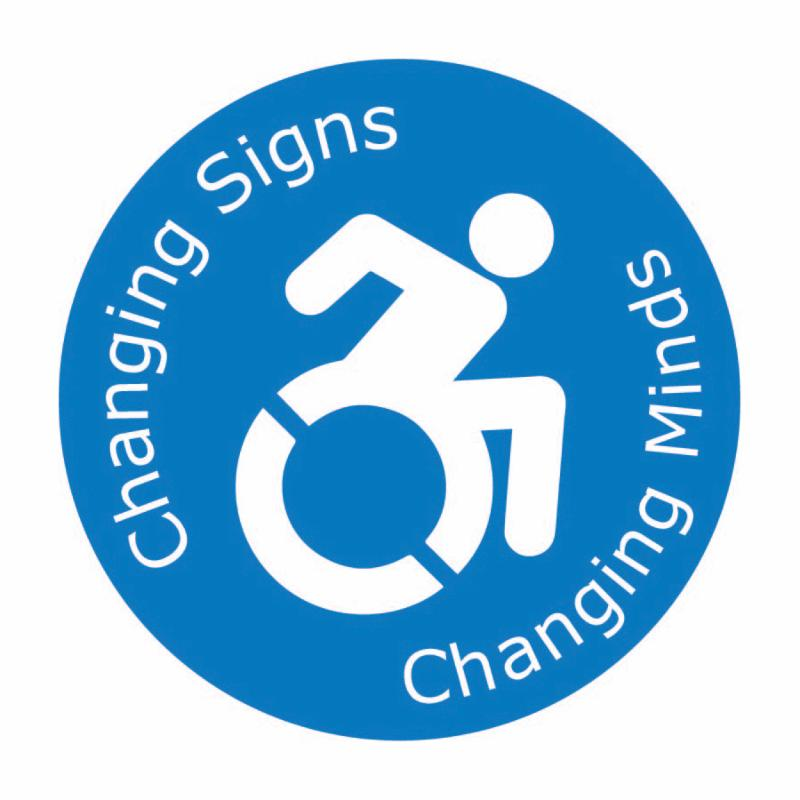 _changing signs _ changing minds_ with active icon