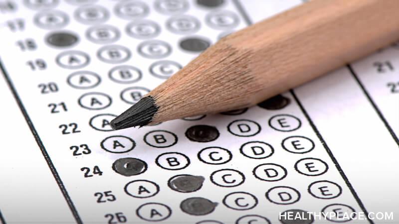standardized test sheet & pencil
