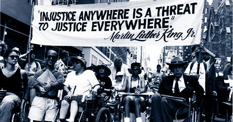 disability rights protestors