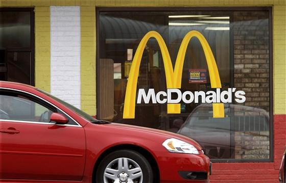 McDonald's window with logo