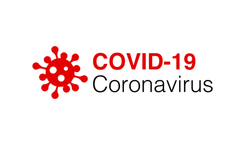 Covid-19 Coronavirus concept inscription typography design logo. World Health organization WHO introduced new official name for Coronavirus disease named COVID-19_ dangerous virus on white background