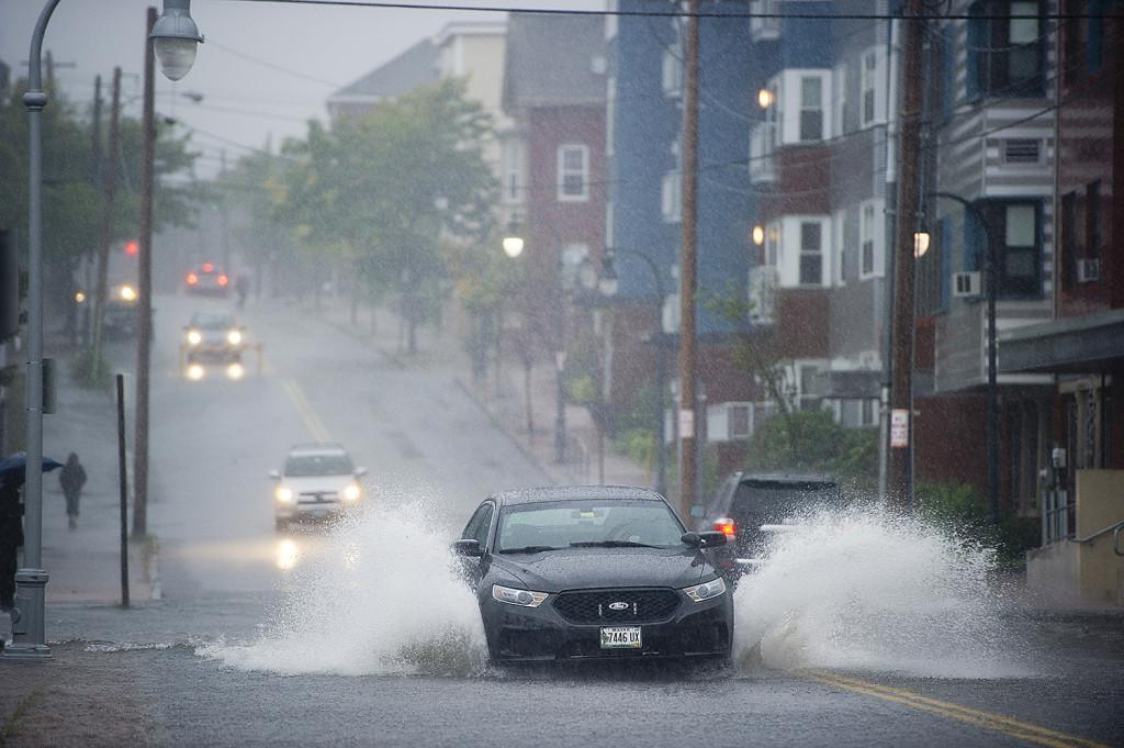Flooded street Portland ME Gabe Souza PPH Photographer