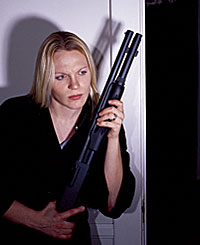 woman shotgun
